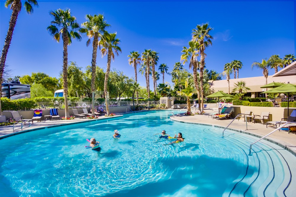 Sunland Rv Resorts Offers Our Guest Sparkling Pools To