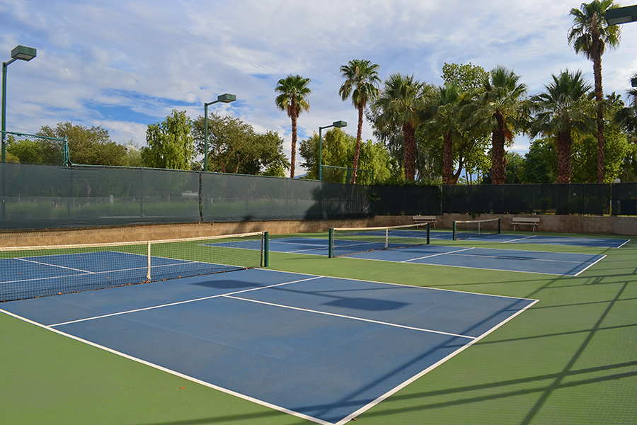 Pickleball courts in Palm Desert