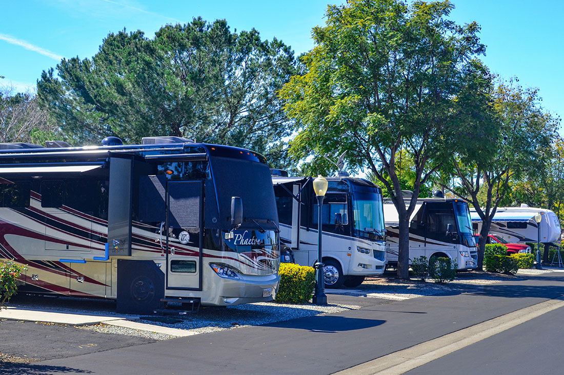 Enjoy luxury at Golden Village Palms RV Resort in Hemet